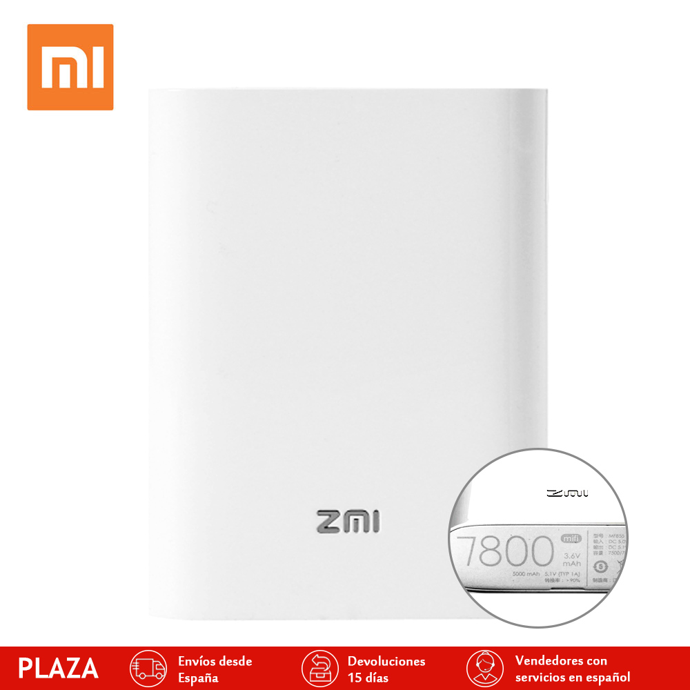 Original New Xiaomi Zmi Wifi portable Router MF855 3 6V 7800mh wifi 3G 4G Querysystem Wireless
