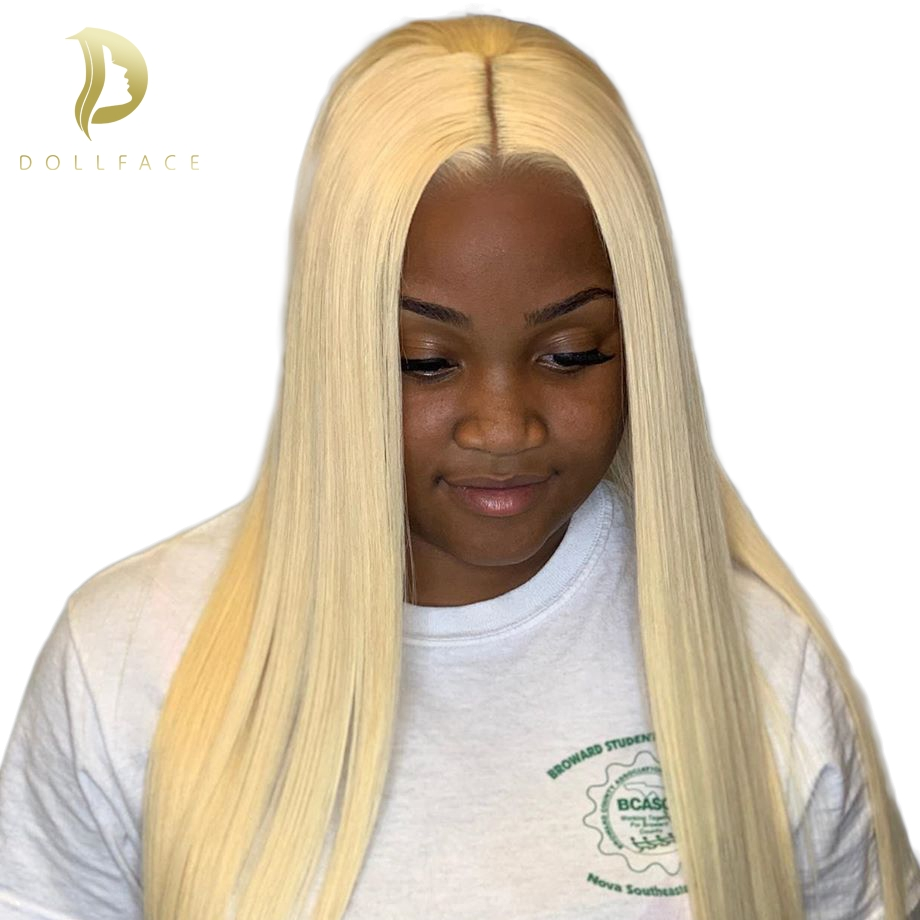 613 blonde 13x4 lace front wig short bob 30 inch long lace front human hair wigs for black women pre plucked with baby hair in Human Hair Lace Wigs from Hair Extensions Wigs