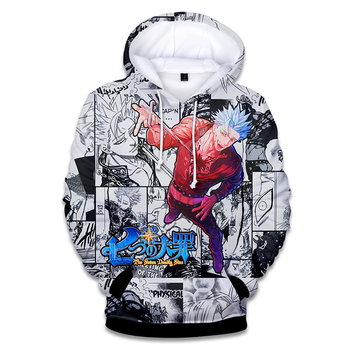 цена на 2018 The Seven Deadly Sins 3D Hoodies Sweatshirts men women Kawaii  Nanatsu No Taizai  Clothes Hooded Tops