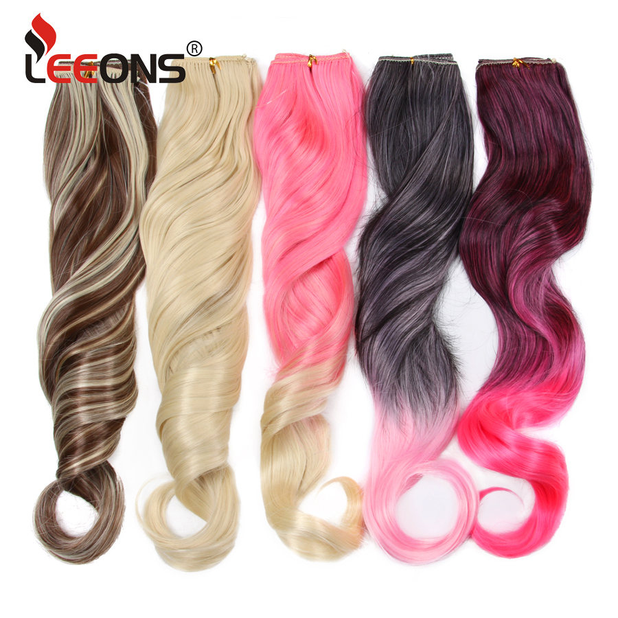 Leeons 24 inches Invisible Wire No Clips in Hair Extensions Ombre Secret Fish Line Hairpieces Real Natural Synthetic Hairpiece ...