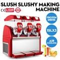 Обновленная машина для производства Красной слякоти  3 резервуара для снега  замороженного напитка  Slushy Smoothie Maker Commercial