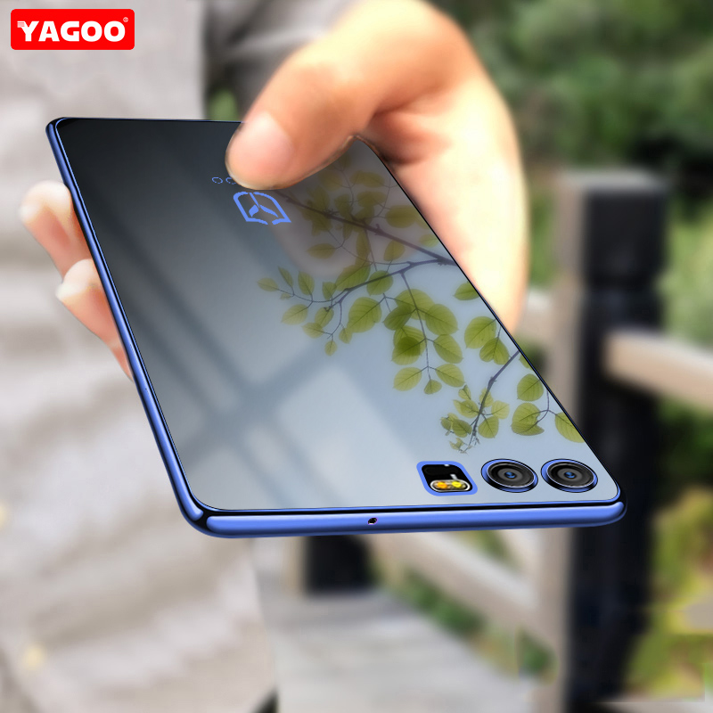 For Huawei Honor 9 Case 5.15 inch luxury silicone TPU transparent Soft Back Cover for Huawei Honor 9 case fashion original Yagoo