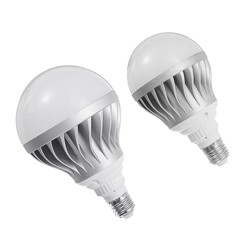 Super Bright 15W 24W 5730 SMD LED Lamp Bulb E27 Silver Aluminum Shell Global LED Light Bulb Pure White 6000-6500K AC85-265V e27 30w 165 x 5730 smd led light bulb super bright warm white white light energy saving led corn lamp for home lighting