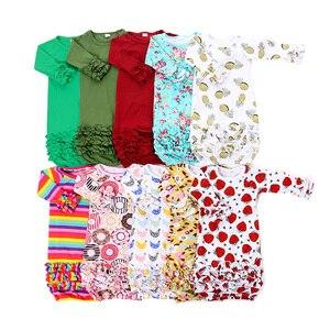 Пижама для новорожденных Kaiya Angel, 1 шт., с цветами, клубникой, ананасом, радугой, одежда для сна для маленьких мальчиков