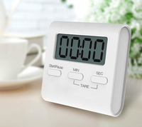 Square Magnetic Large LCD Digital Kitchen Timer Count Up Down Alarm Clock
