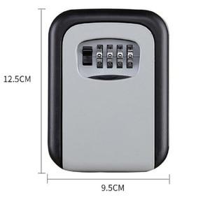 Image 3 - 벽 마운트 키 스토리지 주최자 상자 4 자리 조합 잠금 예비 키 주최자 상자 금속 비밀 안전 상자