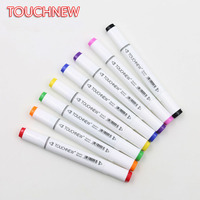 TOUCHNEW 168 Colors Artist Painting Manga Art Marker Pen Head Alcohol Art Sketch Graffiti Markers Set