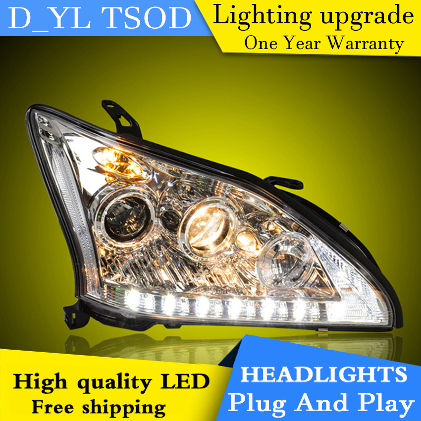 Car Styling Headlights for Lexus RX35 2004 2009 LED Headlight for RX35 Head Lamp LED Daytime