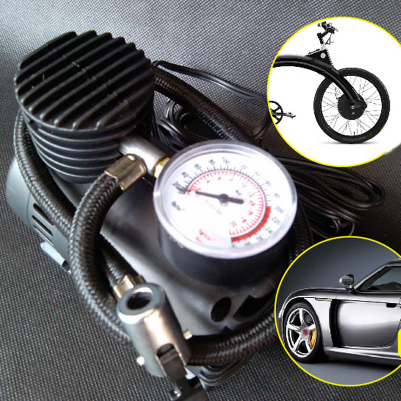 300PSI 12V Mini Air Compressor Auto Car Electric Tire Air Inflator Pump CSL2018 car auto dc 12v 300 psi electric pump air compressor tire inflator black