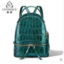 gete Crocodile skin new womens bag 2019 large capacity backpack fashion backpacks crocodile belly  Female