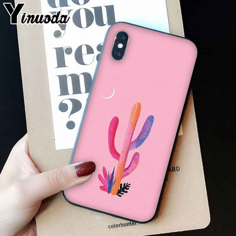 Yinuoda Tropical พืชแคคตัสใบกล้วย Novelty Fundas โทรศัพท์สำหรับ iPhone 8 7 6 6 S Plus X XS MAX 5 5 S SE XR โทรศัพท์มือถือ