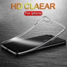 Ультратонкий прозрачный ТПУ силиконовый чехол для iPhone XS MAX XR 6 7 6S 5 Plus защитный резиновый чехол для телефона для iPhone 8 7 Plus