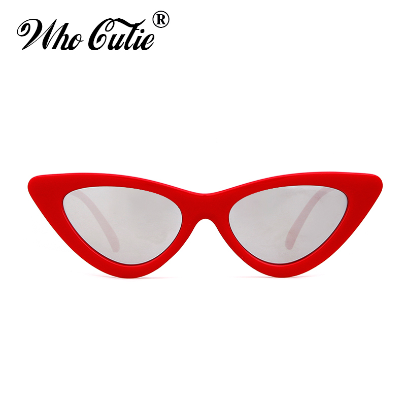 WHO CUTIE 2018 Small Cateye 90s Sunglasses Sexy Women