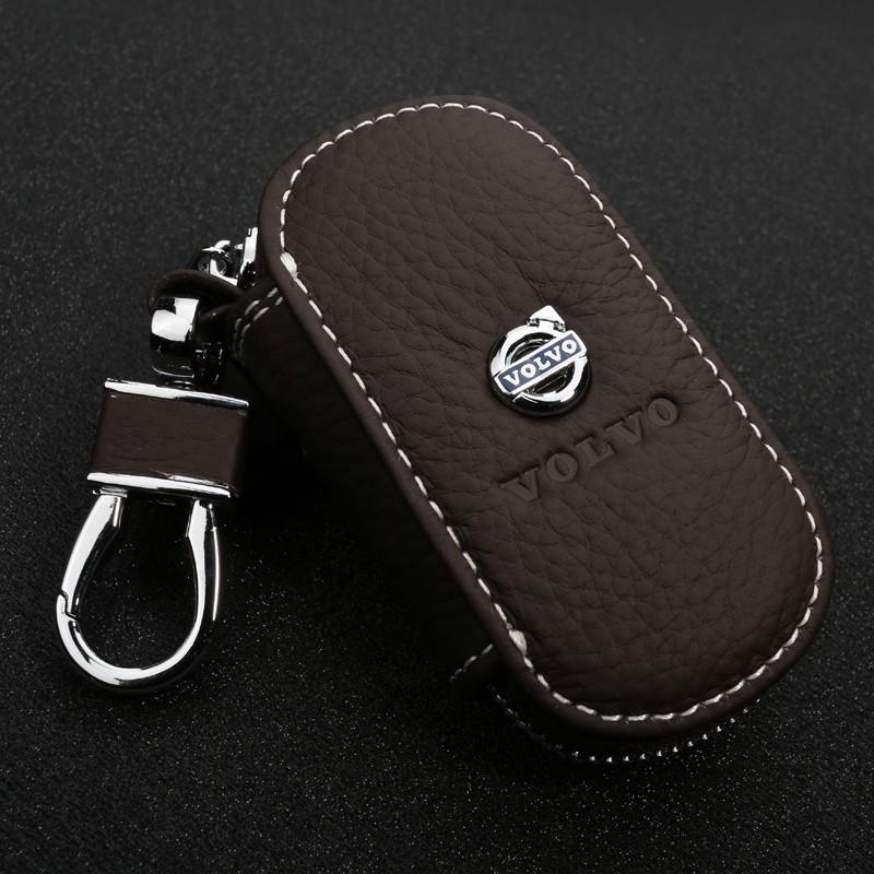 GIFT-for-Volvo-XC60-S80L-XC90-V40-V60-S60L-C30-Leather-Car-Key-Wallet-key-Case (2)