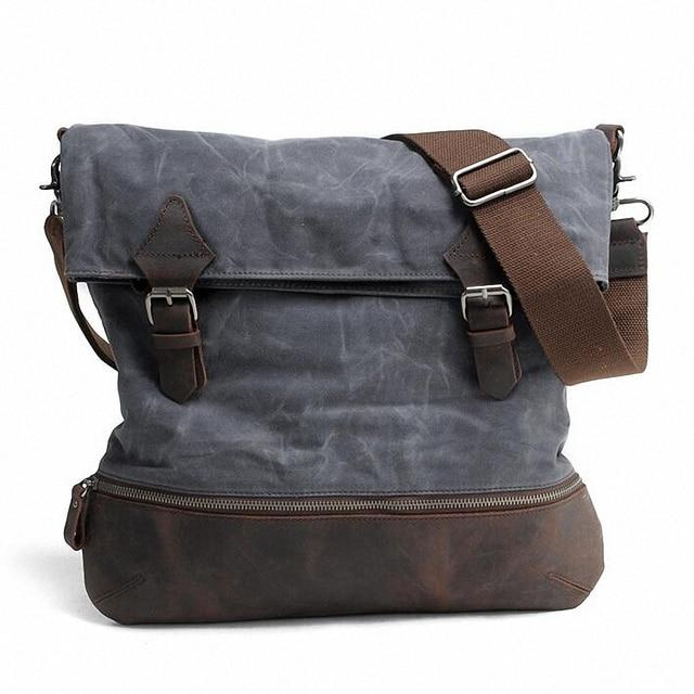 Sacos do Mensageiro Dos Homens do vintage Saco Crossbody saco de Ombro Da Lona Saco de Homens de Negócios de Moda à prova d' água Bolsa de Viagem Impressão LI-1677