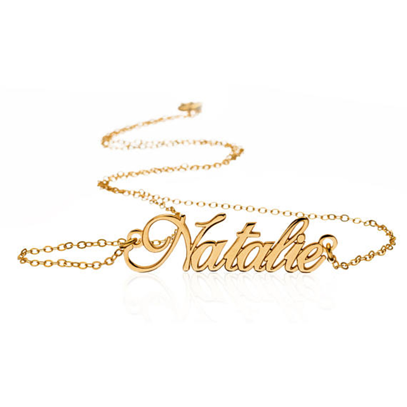 GORGEOUS TALE Wholesale Personalized Carrie Style Name Neckls