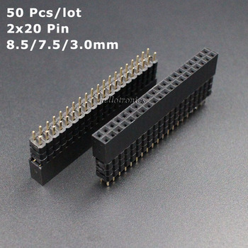 Hellotronics 50 unids/lote 2x20 Pin 8,5/7,5/3,0mm GPIO para Raspberry Pi A + Pi B + y Pi 2 Pi 3 Pi 4