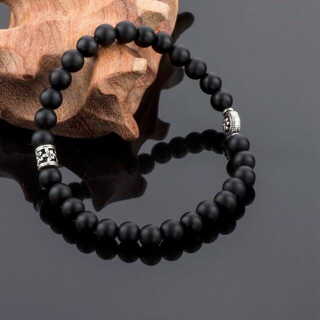 Купить мужские браслеты из натурального камня chicvie матовые бусины