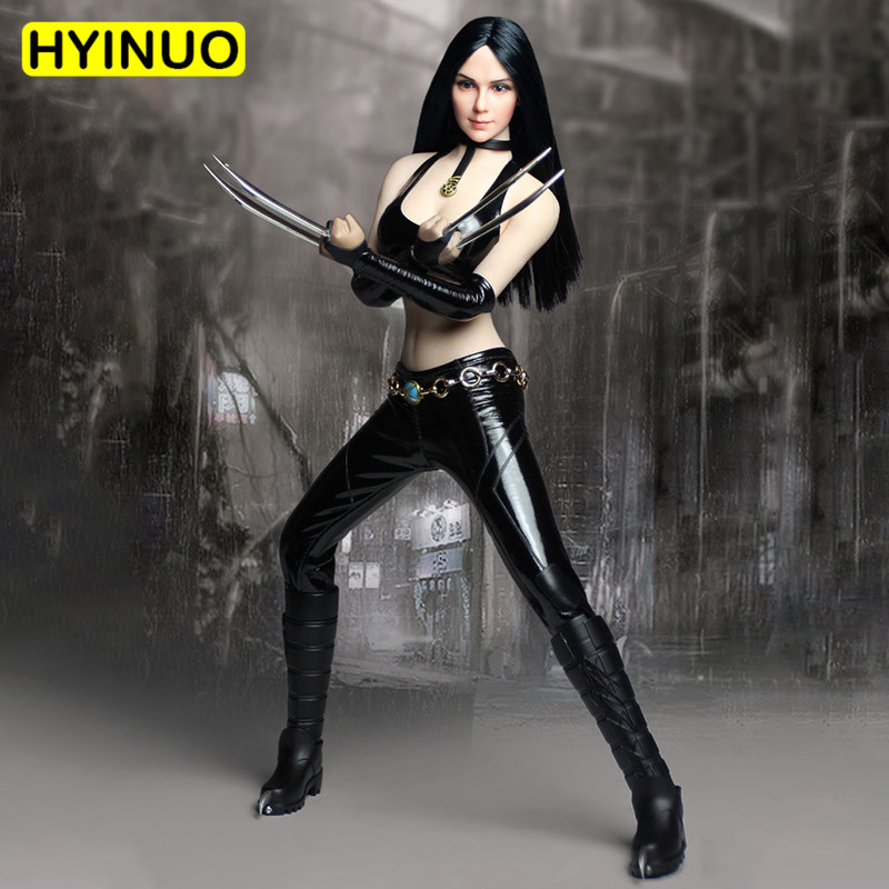 1/6 Scale SET020 COSPLAY Female Sexy Wolf Girl Women Leather Pants Clothes Clothing Set For 12 Action Figure Female Body1/6 Scale SET020 COSPLAY Female Sexy Wolf Girl Women Leather Pants Clothes Clothing Set For 12 Action Figure Female Body