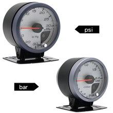Дракон Калибр 60 мм 2,0 бар/-30-30 PSI турбо усилитель датчик белого лица двойной светодиодный цветной дисплей