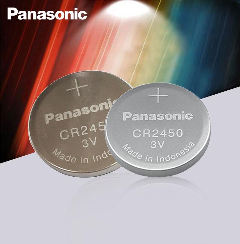 2 шт. новый оригинальный Panasonic CR2450 CR 2450 3V литиевая кнопка батареи для часов, часов, слуховых аппаратов
