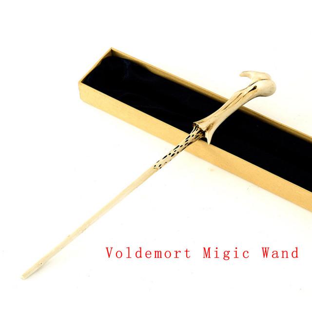 2016 Nuevo Con Núcleo de Metal Migic Voldemort Varita/Varita Mágica/Caja de Regalo de Embalaje de Alta Calidad sin luz LED