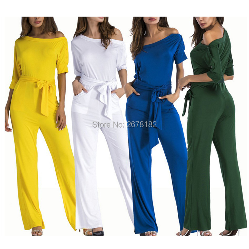 Mesh Beading Sexy Jumpsuits For Women Summer Overalls Strapless Off Shoulder Wide Leg Pants Rompers Plus Size Jumpsuits S-2xl Women's Clothing