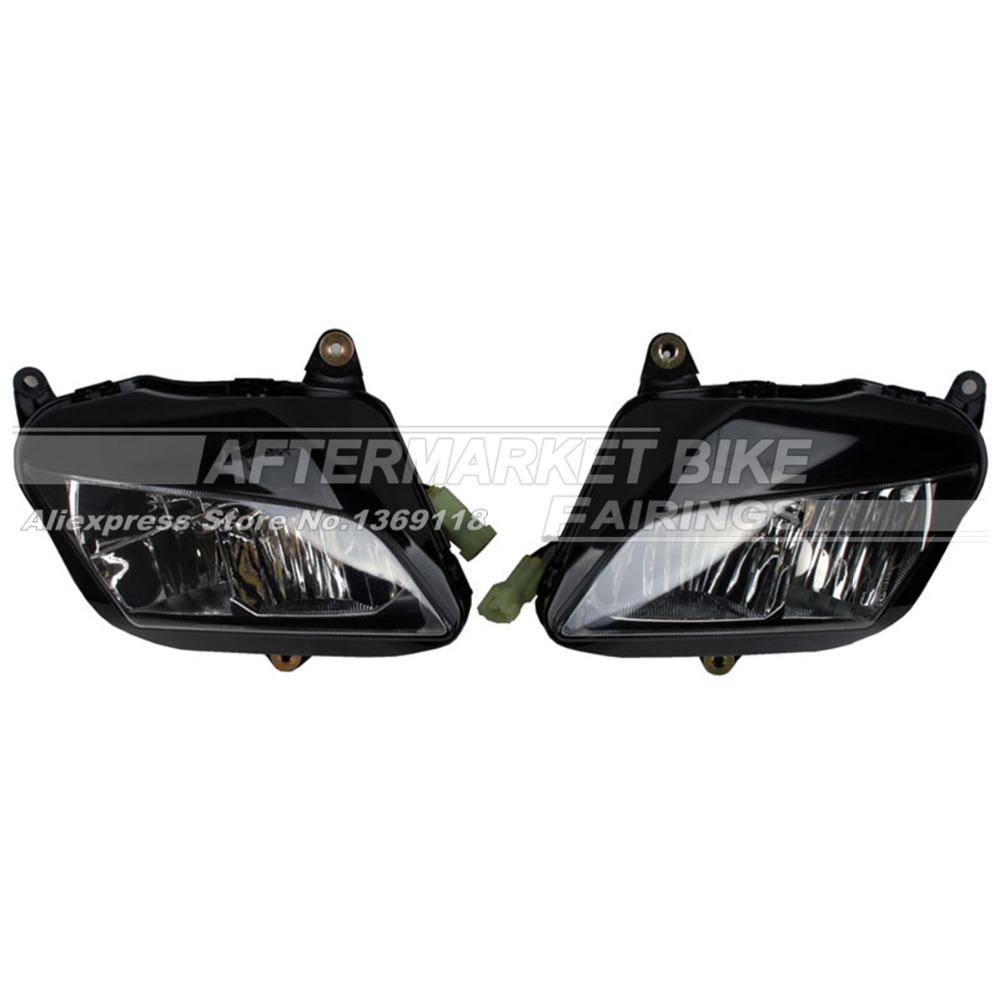 Motorcycle Headlight Set For Honda CBR600RR 2007 2008 2009 2010 2011 2012 Motorbike Head Light Front Lamp Assembly kemimoto 2007 2014 cbr 600 rr aluminum radiator grille grills guard cover for honda cbr600rr 2007 2008 2009 2010 11 2012 13 2014