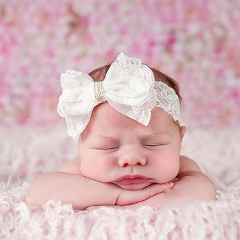 Bebe Headbands Chiffon Lace Elastic Hair Bands Girls Head bands Kids Bowknot Headwrap Children Hair Bow Hair Accessories kids bow headbands baby girls hair bands for newborn girls hair head band children multicolor hair accressories