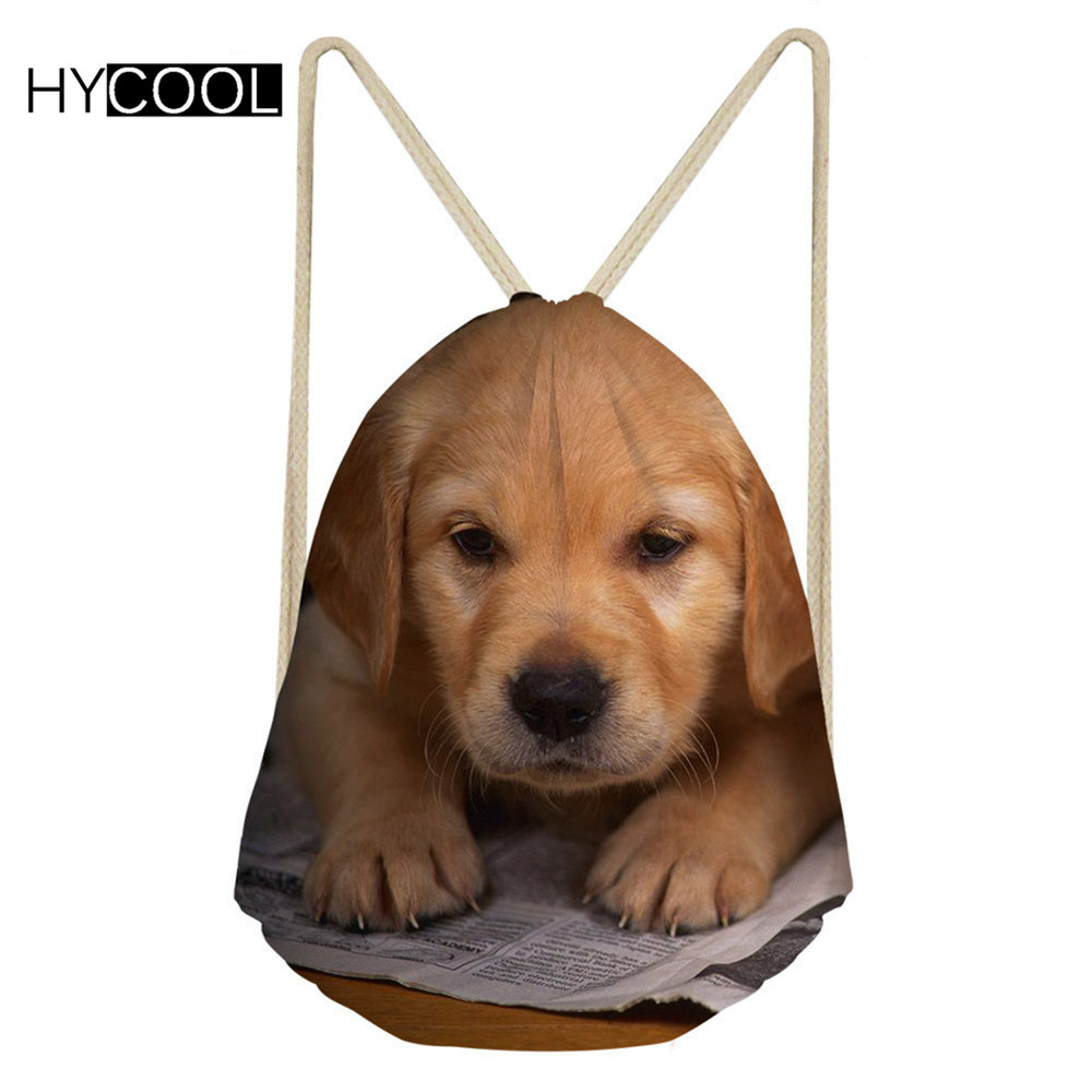 Hycool Sports Bags For Women Fitness Gym Sack Dogs Printed Lady Outdoor Training Dance Backpack Children Running Swimming Bags