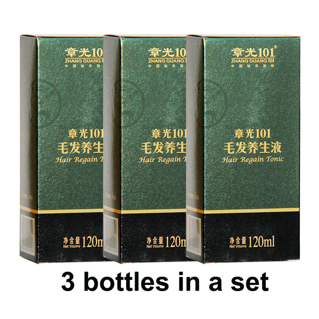 world famous zhangguang 101 hair regain tonic 3x120ml chinese