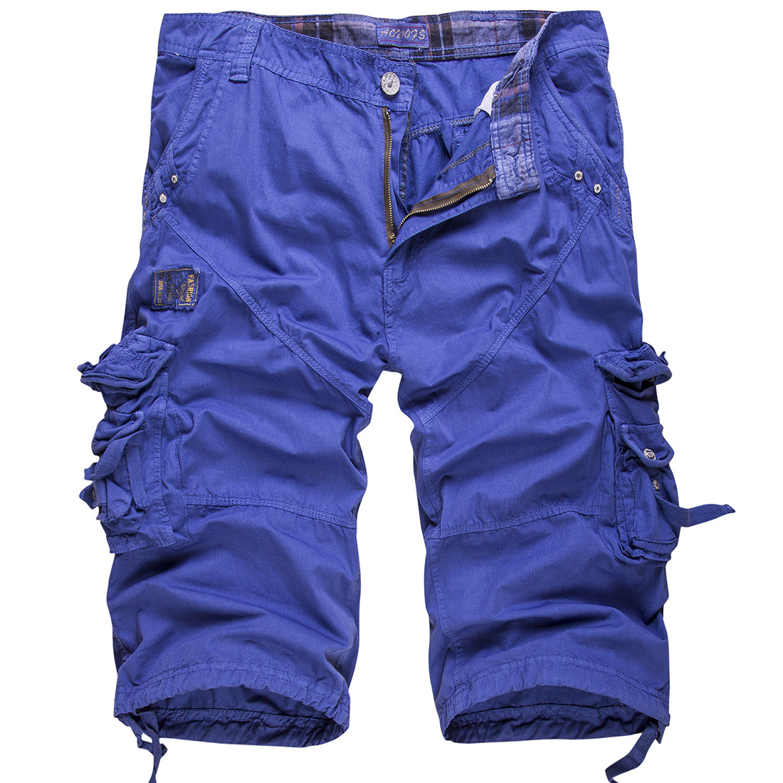 Cargo Pants Men Loose Trousers Summer Baggy Cargo Cotton Calf Length Plus Size Pants Casual Trouser Male Large Loose Big Size