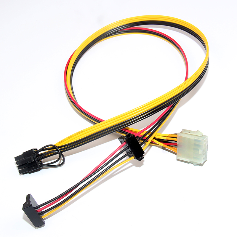 PSU 10pin to IDE Molex + SATA + PCIe PCI-E 8pin 6+2pin Adapter Converter Power Supply Cable Cord For HP DL160G6 18AWG 60cm win8 10 mac android ftdi ft232rl usb rs232 db9 serial adapter converter cable