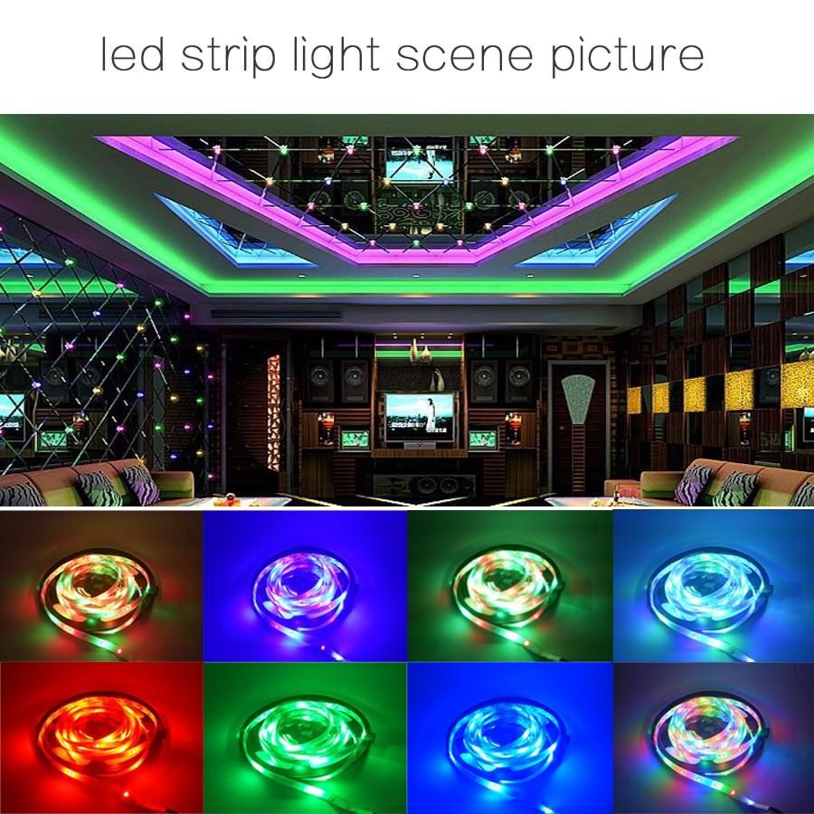 HTB1HwoVU4TpK1RjSZFKq6y2wXXa6 5M 10M 15M 5050 Led Strip DC 12 V RGB Flexible Tape Led Ribbon Led Strip Light With IR Remote For Home kitchen Christmas Party