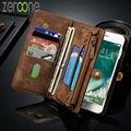Case para iphone 7 6 caseme segunda capa de cuero genuino 6 s 6 plus 6 más funcional multi 2 en 1 soporte de la carpeta cubierta del teléfono case
