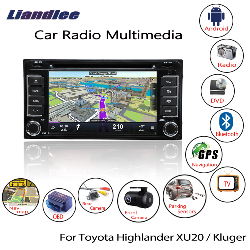 Liandlee For Toyota Highlander XU20 / Kluger 2000~2007 Android Car Radio CD DVD Player GPS Navi Navigation Maps Camera OBD TV