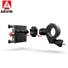 Arvin 2 in 1 Bicycle Motorcycle Handlebar Phone Holder 360 Rotation Adjustable Rearview Mobile Mount For iPhone