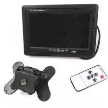 Buy online New Car Monitor 7″ Digital Color TFT 16:9 LCD Car Reverse Desk Monitor with Bracket holder for Rearview Camera DVR