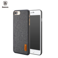 Baseus Phone Bag Case For IPhone 7 7 Plus Artistical Simple Stylish Grain Design Fabric Protective