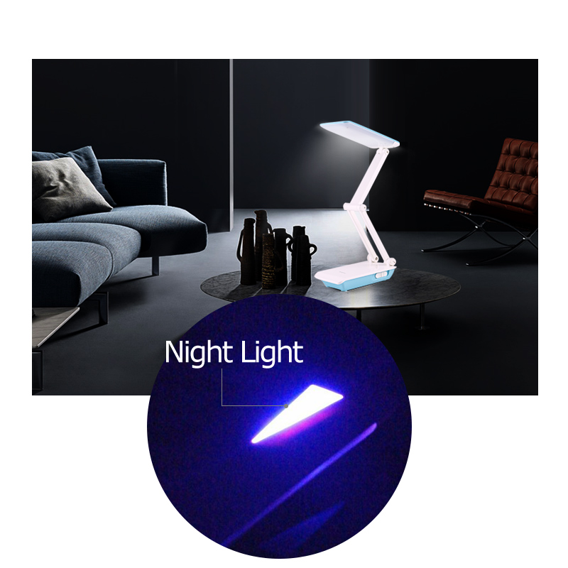 YAGE Desk Lamp Foldable Desk Lamp LED Table Lamp 3 Layer Body 800mAh Battery Table Light Colorful Night Light Lamp Cloud in Desk Lamps from Lights Lighting