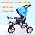 Multi-función de Plegado Del Cochecito de Bebé Cochecito de Bebé, 3 Ruedas de Bicicleta de Los Niños, Bicicleta del cabrito, adecuado para 0 ~ 6 Años de Edad Los Niños