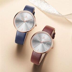 Image 5 - NAVIFORCE Frauen Uhr Mode Lässig Quarz Dame PU Armband Einfach Datum Wasserdichte Armbanduhr Geschenk für Mädchen/Frau/Frau 2019