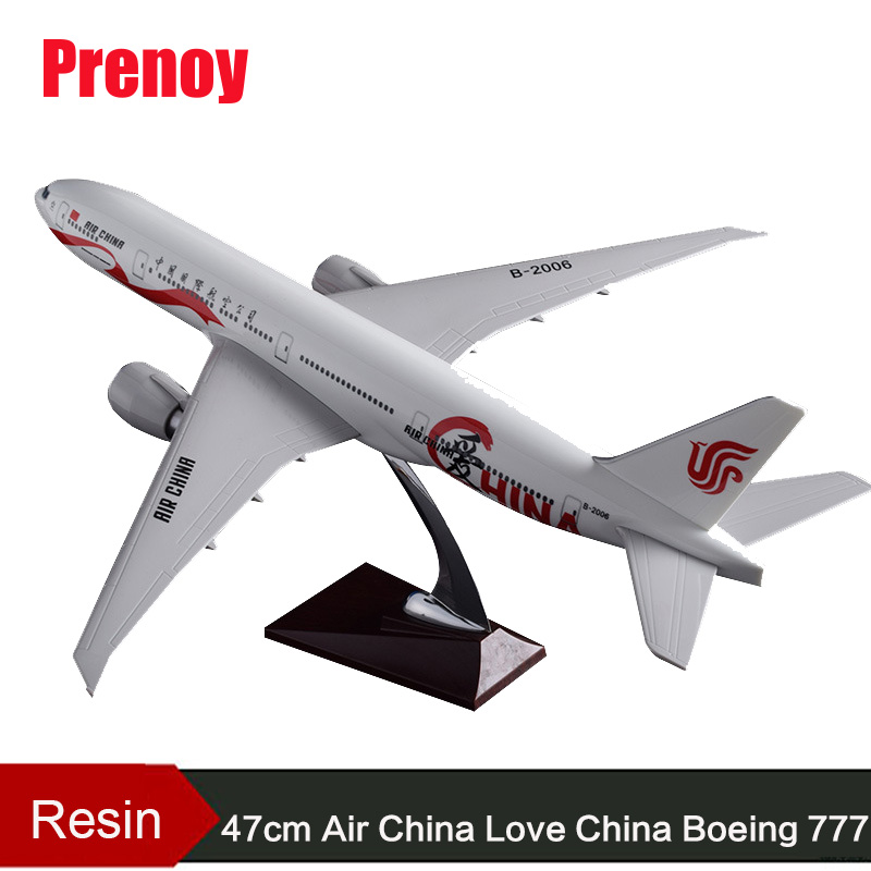 47cm Aircraft Model B777 National Airways Air China Love China Airplane Model Resin Boeing 777 Airways Aviation Airbus Model pre sale phoenix 11216 air france f gsqi jonone 1 400 b777 300er commercial jetliners plane model hobby