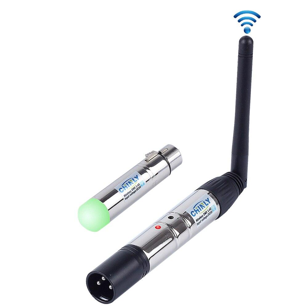 DMX512 Беспроводной освещения приемник передатчик 2,4 г Связь расстояние 300 м RGB свет контроллер для сцены эффект контроллер
