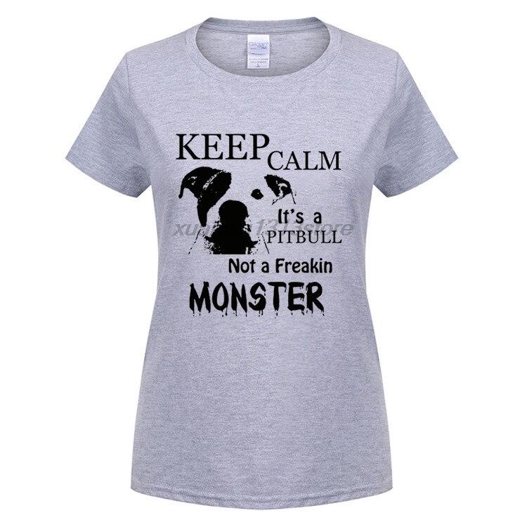 Возьмите Пользовательские Футболка Keep Calm его Pitbull не freakin питбуль предварительно короткая футболка из хлопка комфорт рубашка печати футбол...