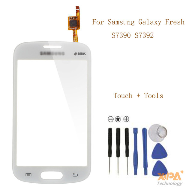 For Samsung Trend Lite GT-S7390 S7392 Touch Screen Digitizer S7390 + tools free shipping