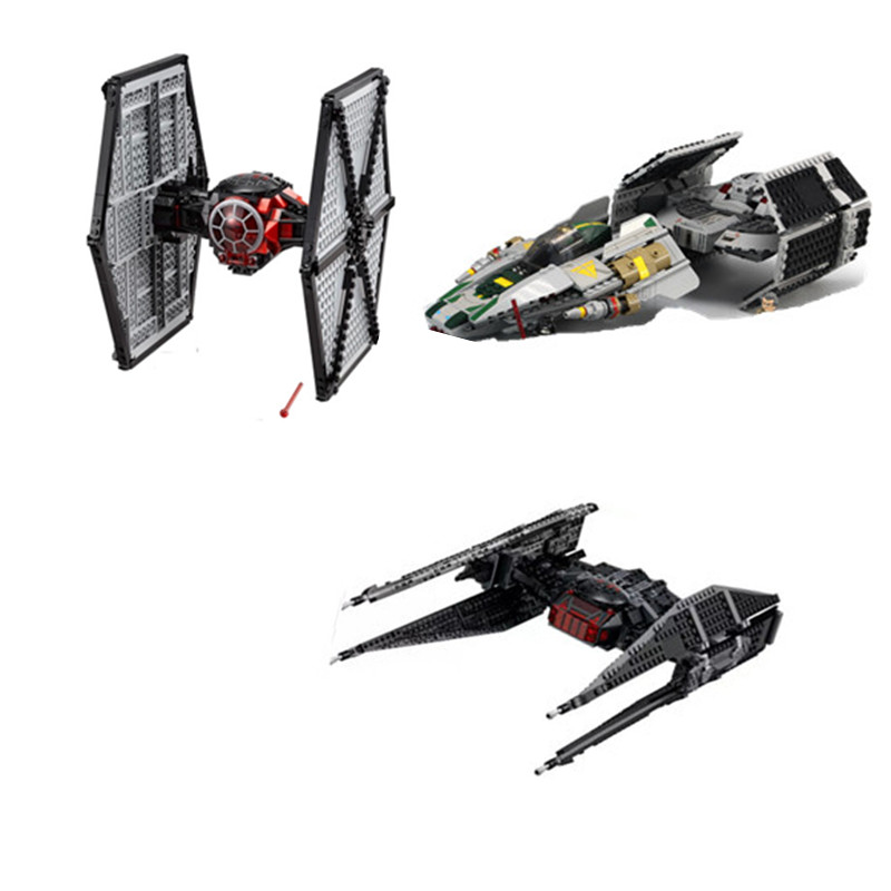 lepin star wars Tie Fighter lepin 05005 05030 05127 legoing starwars Tie Fighter legoing 75179 75150 75101 building block bricks 722pcs lepin 05030 star wars vader tie advanced vs a wing starfighter 75150 building blocks compatible star wars brithday gifts