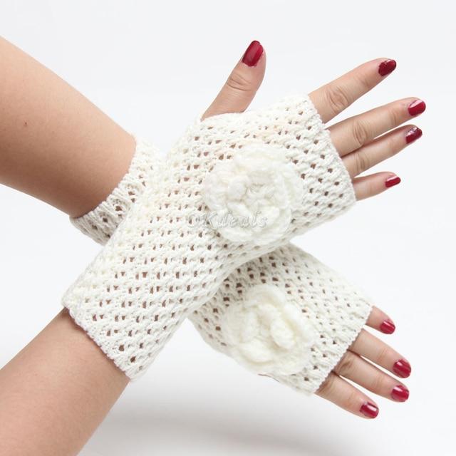 Venta al por mayor brazo de punto manopla ropa mujeres sin dedos ...
