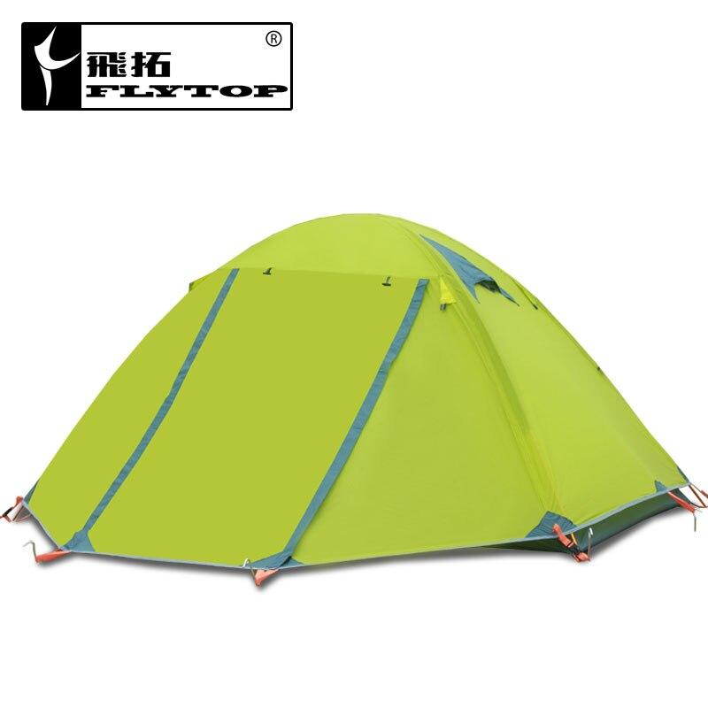 2-3 personnes en aluminium pôle double couche double porte coupe-vent résistant à la pluie camping professionnel tente d'hiver sans jupe de neige