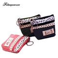 Billetera & Mini Wallet Women Cute Magic Wallet Card Small Girls Purse Women Cotton Dot Double Zipper Key Wallet Kids Coin Purse
